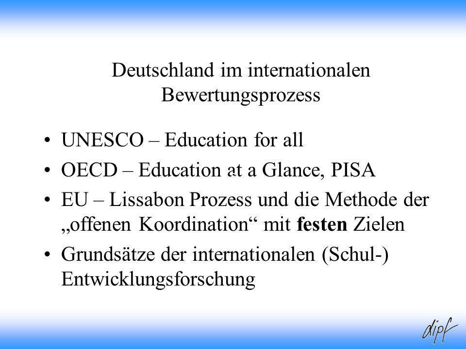 Deutschland im internationalen Bewertungsprozess