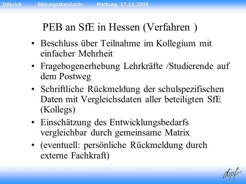 PEB an SfE in Hessen (Verfahren )