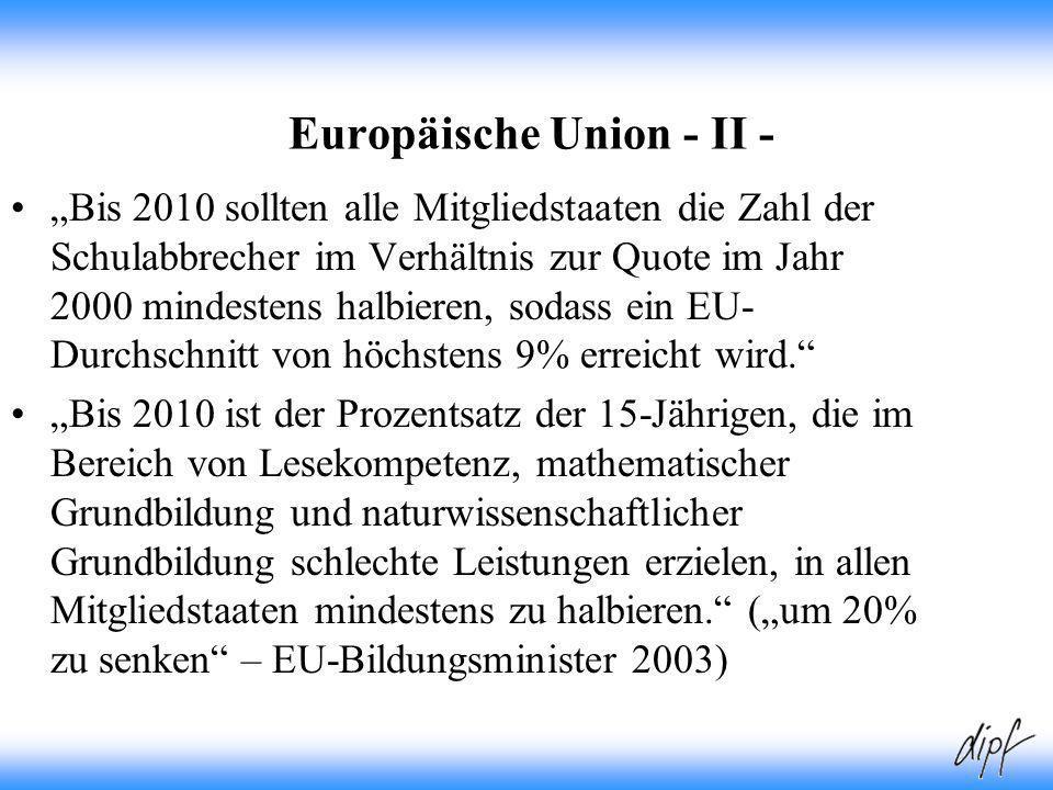 Europäische Union - II -