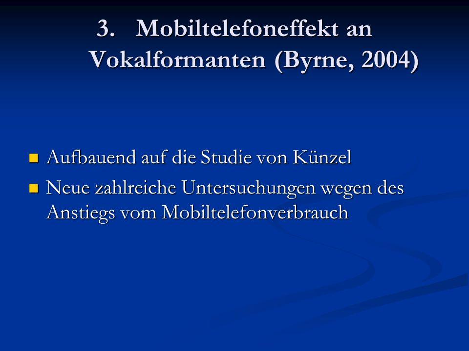 Mobiltelefoneffekt an Vokalformanten (Byrne, 2004)