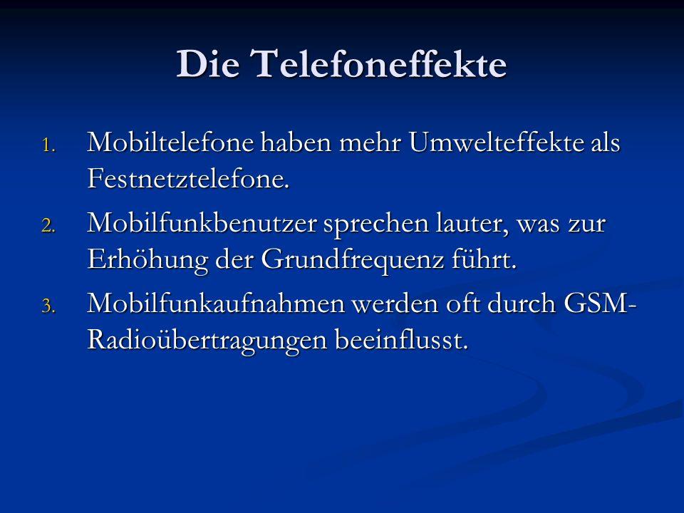 Die TelefoneffekteMobiltelefone haben mehr Umwelteffekte als Festnetztelefone.