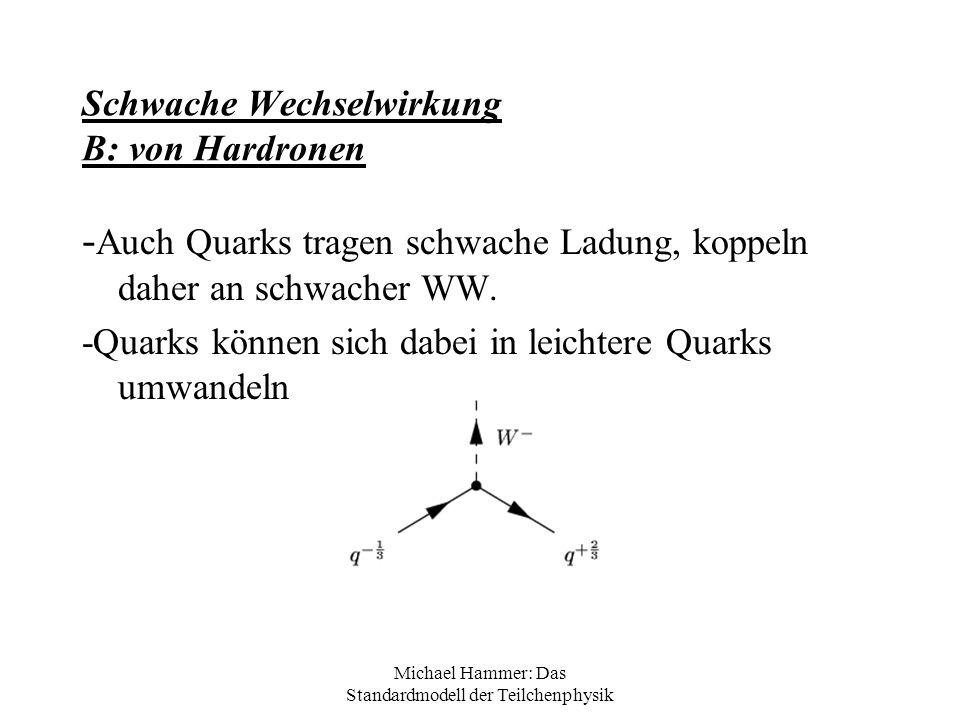 Schwache Wechselwirkung B: von Hardronen