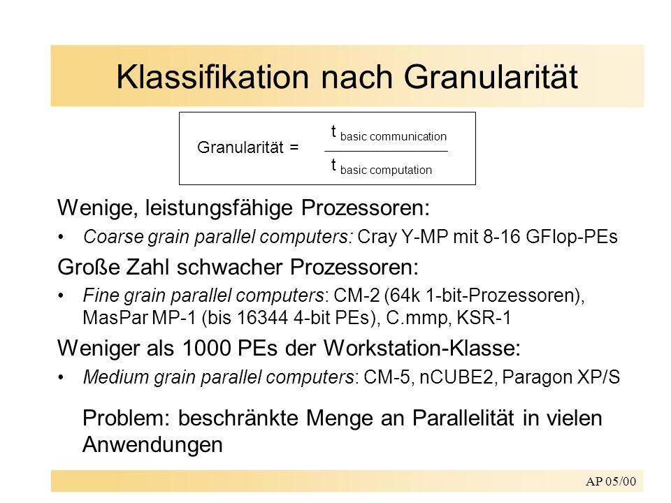 Klassifikation nach Granularität
