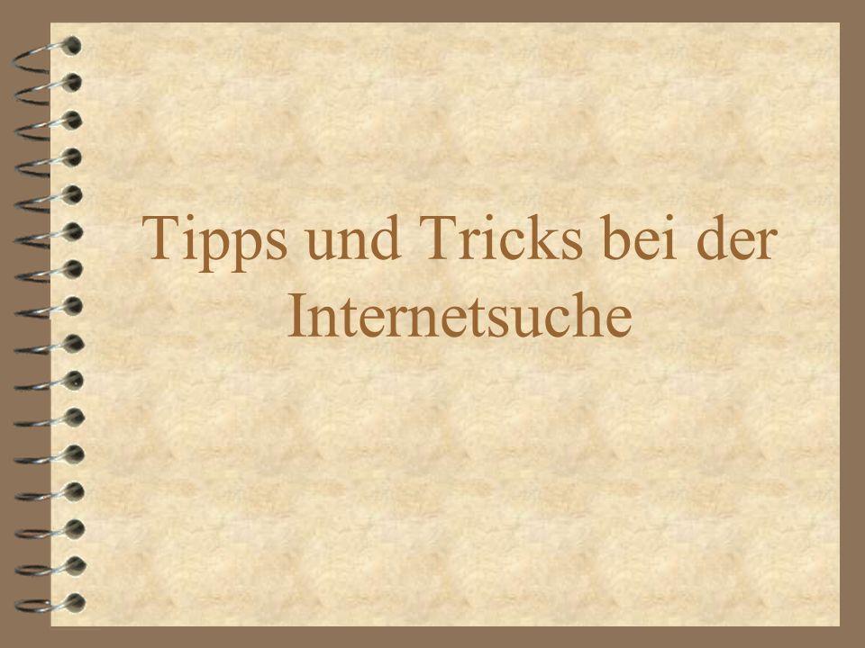 Tipps und Tricks bei der Internetsuche