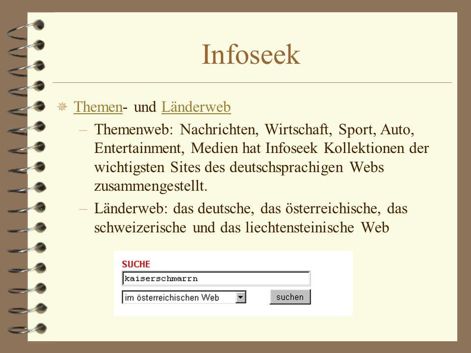 Infoseek Themen- und Länderweb