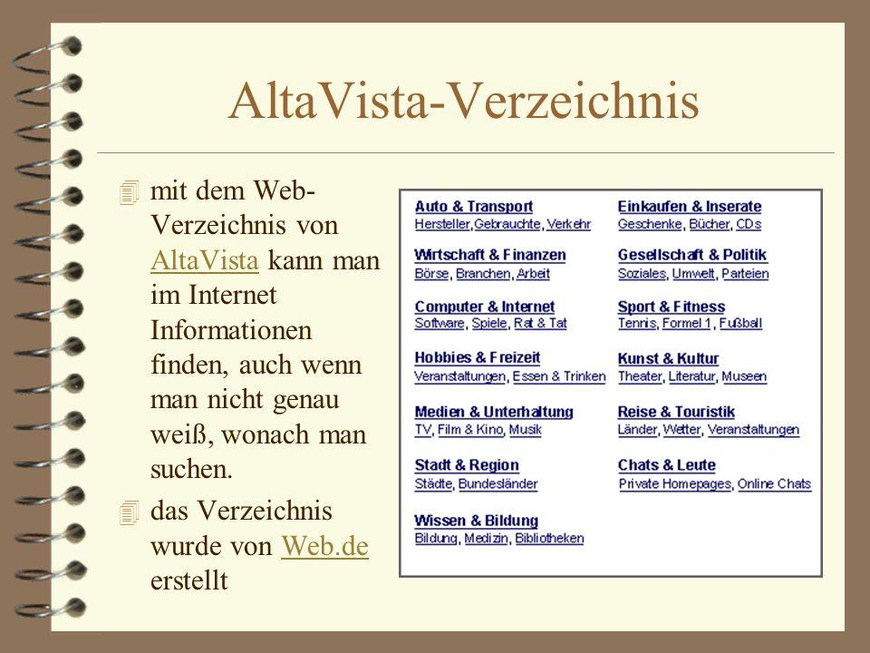 AltaVista-Verzeichnis