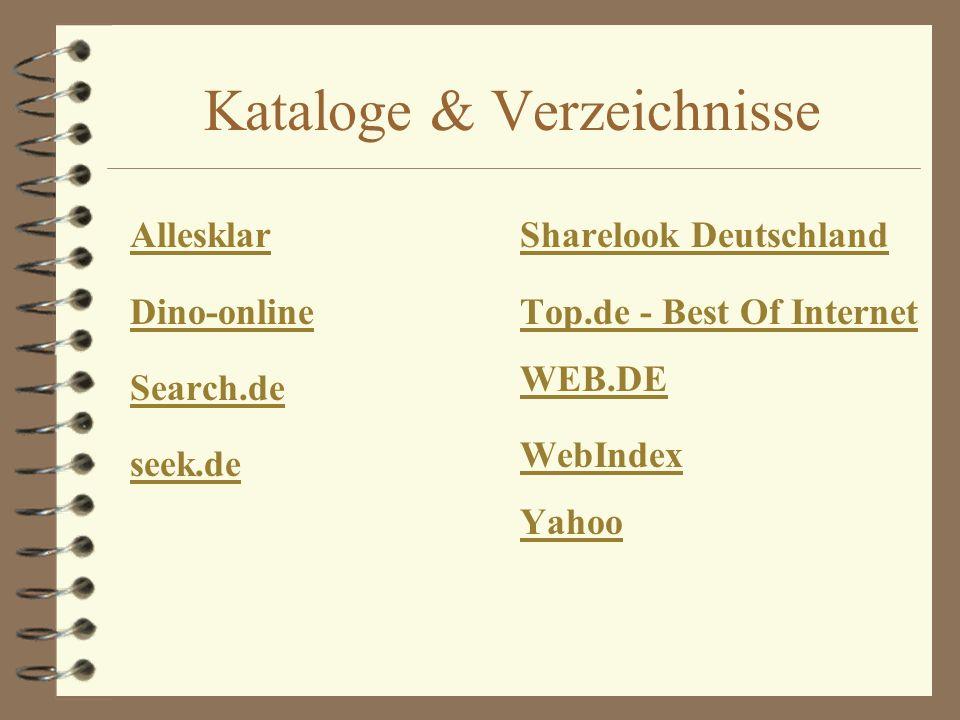 Kataloge & Verzeichnisse