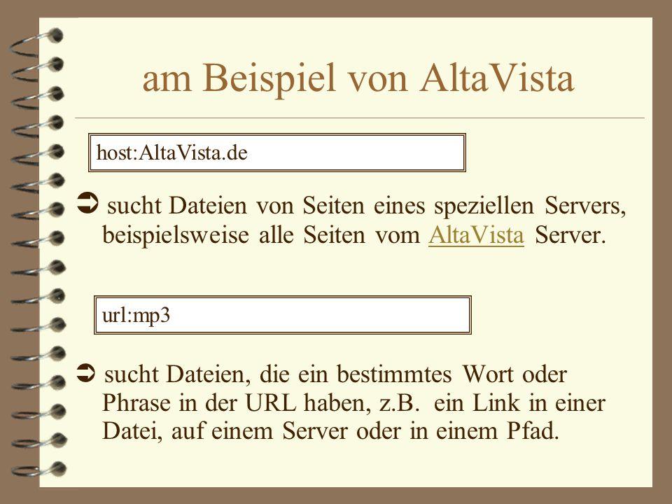 am Beispiel von AltaVista