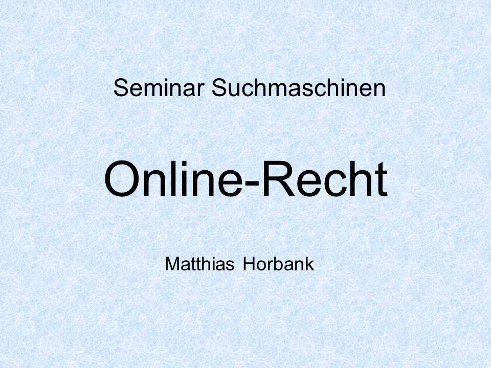 Seminar Suchmaschinen