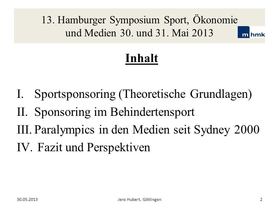 Sportsponsoring (Theoretische Grundlagen)