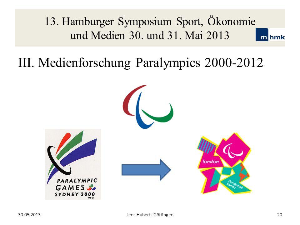 III. Medienforschung Paralympics 2000-2012
