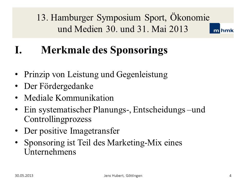 I. Merkmale des Sponsorings