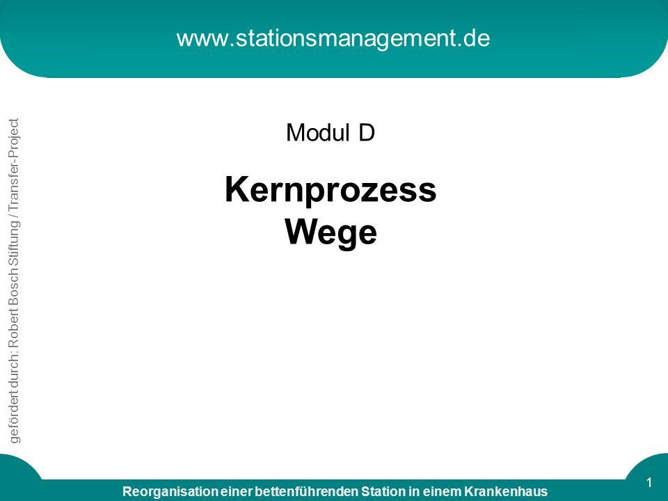 www.stationsmanagement.de Modul D Kernprozess Wege