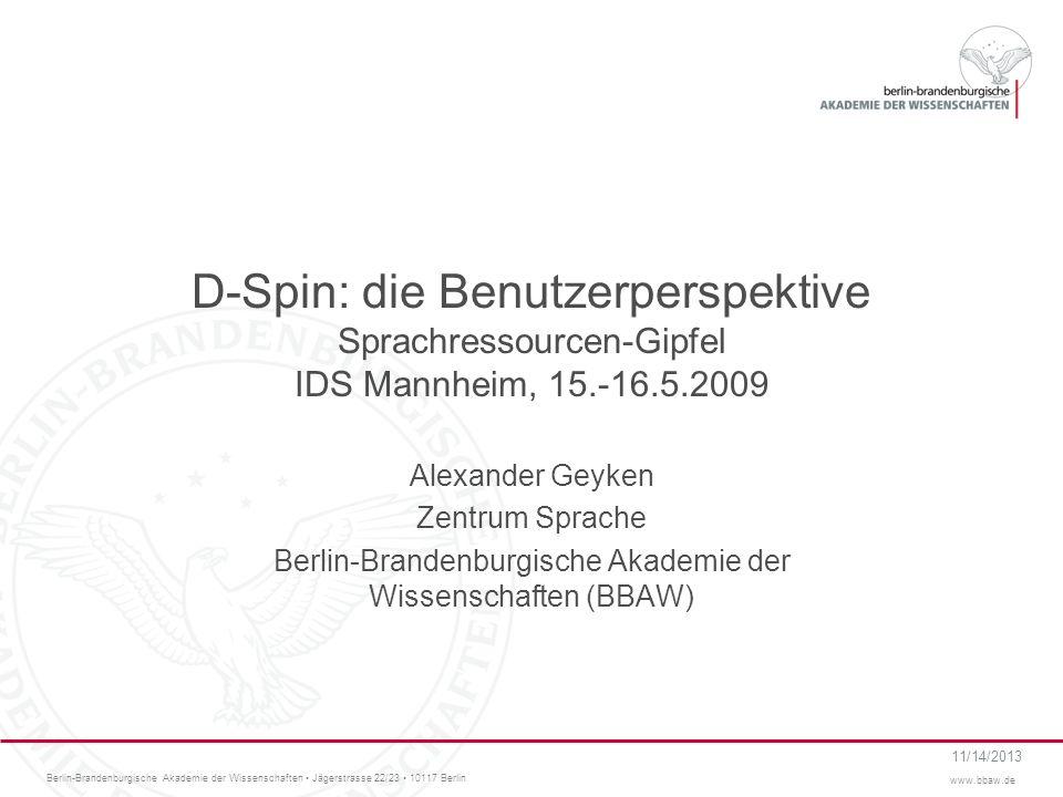 Berlin-Brandenburgische Akademie der Wissenschaften (BBAW)