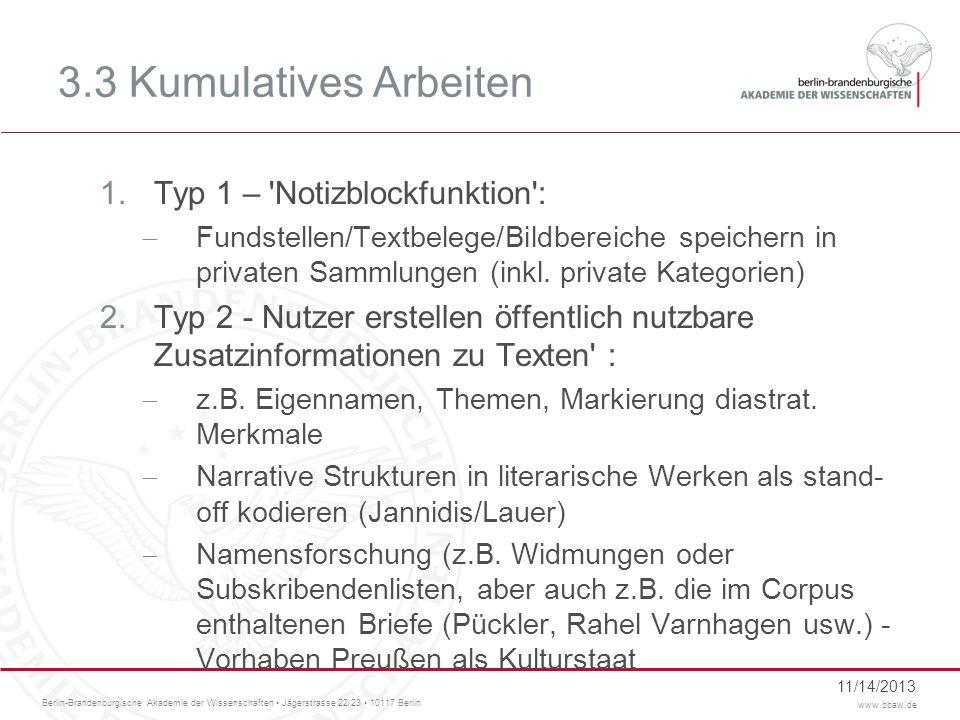 3.3 Kumulatives Arbeiten Typ 1 – Notizblockfunktion :