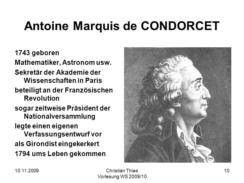 Antoine Marquis de CONDORCET