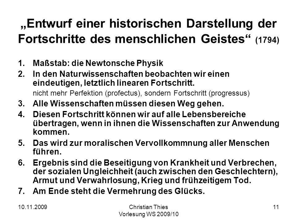 """""""Entwurf einer historischen Darstellung der Fortschritte des menschlichen Geistes (1794)"""