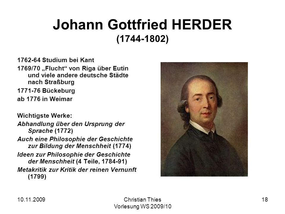 Johann Gottfried HERDER (1744-1802)