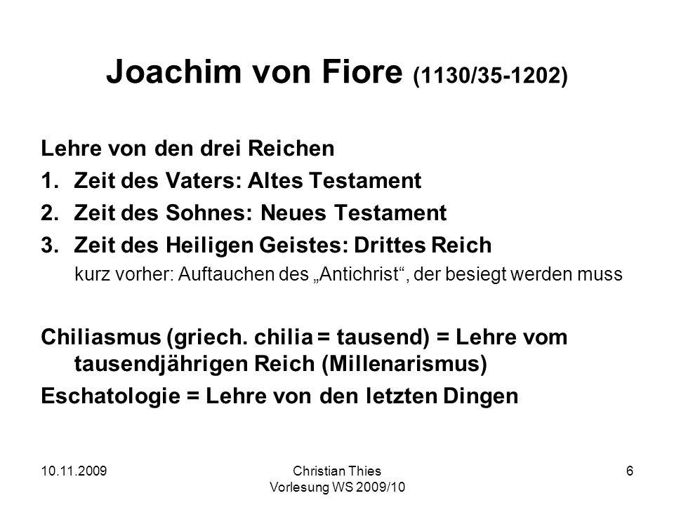 Joachim von Fiore (1130/35-1202) Lehre von den drei Reichen
