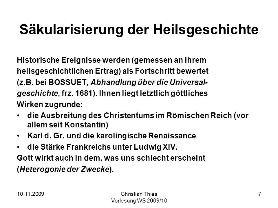 Säkularisierung der Heilsgeschichte
