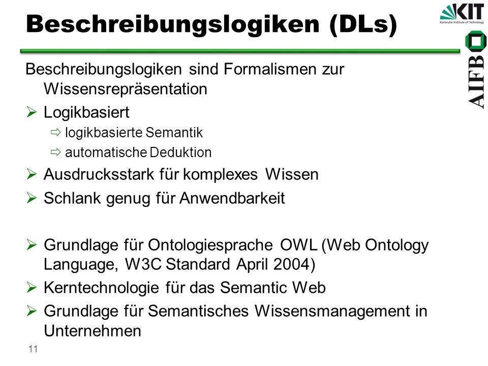 Beschreibungslogiken (DLs)