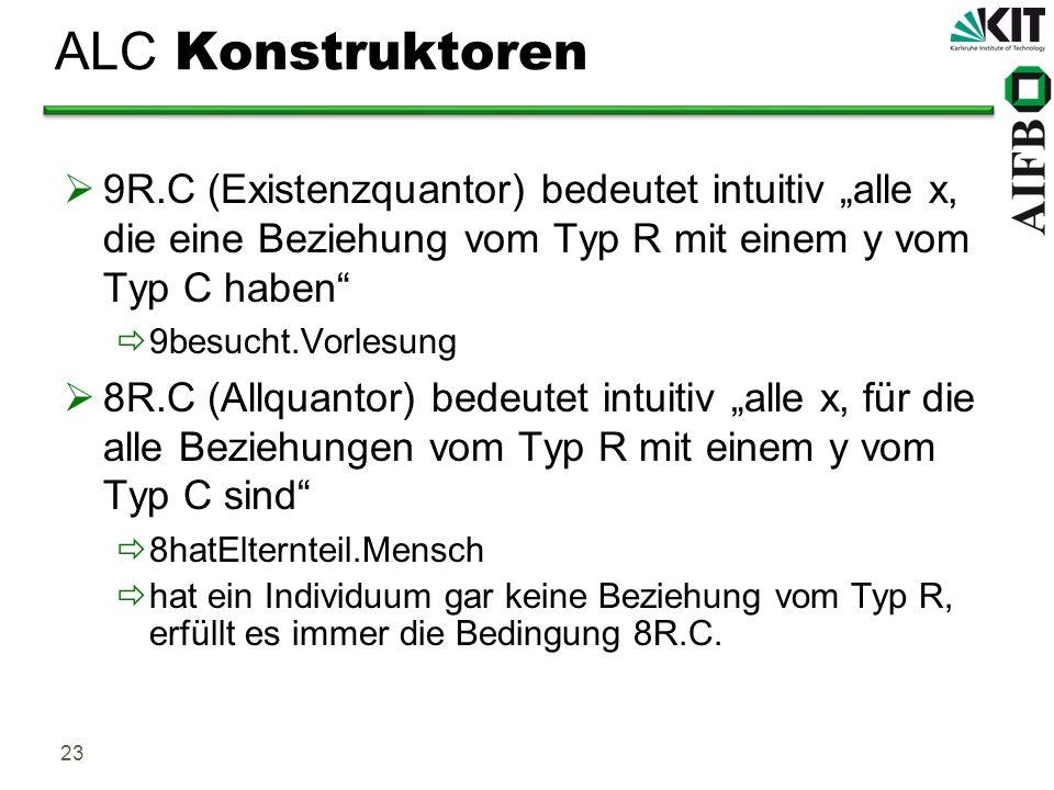 """ALC Konstruktoren9R.C (Existenzquantor) bedeutet intuitiv """"alle x, die eine Beziehung vom Typ R mit einem y vom Typ C haben"""