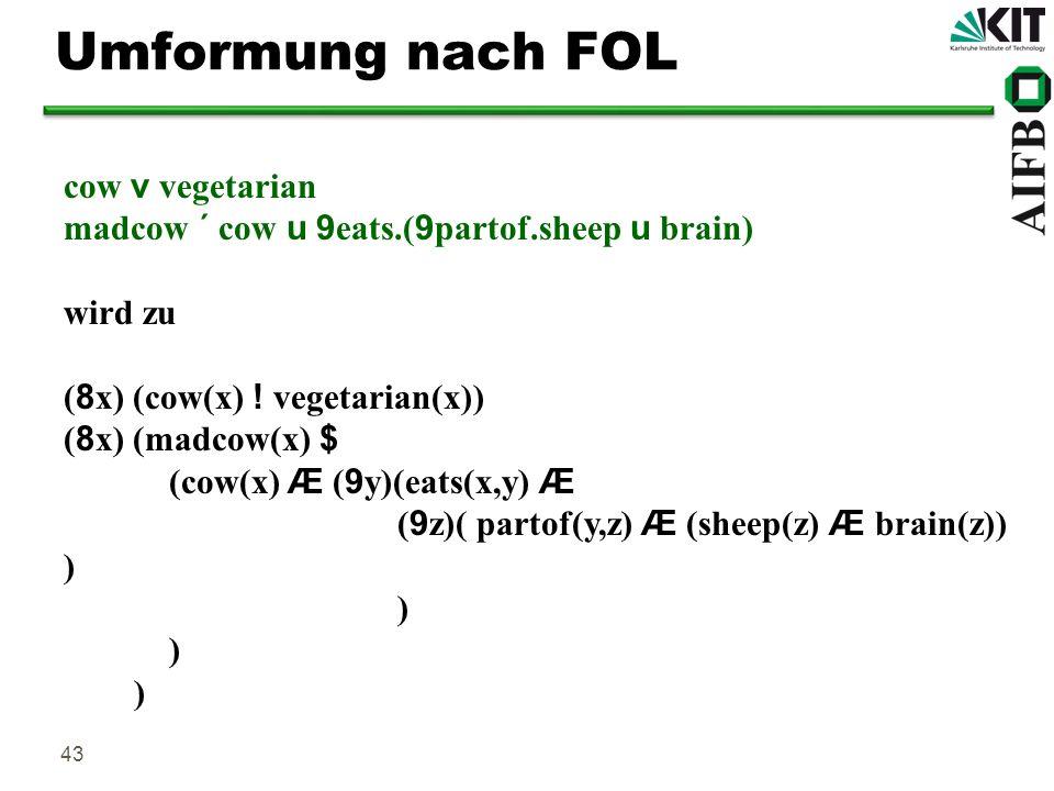 Umformung nach FOL cow v vegetarian