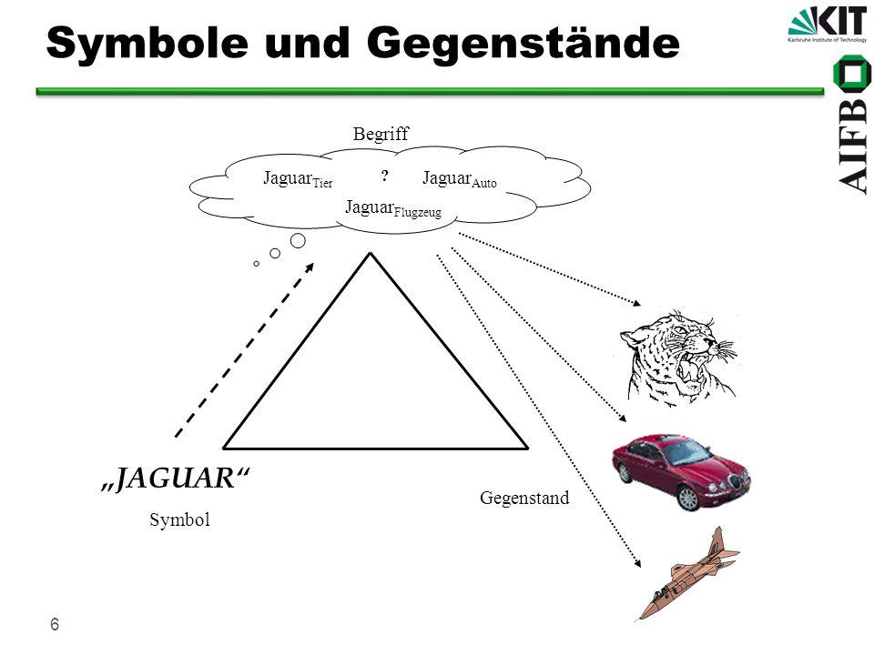 Symbole und Gegenstände