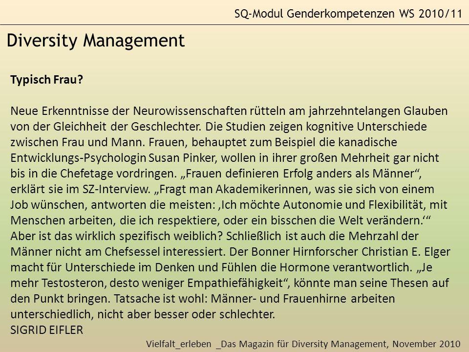 Diversity Management Typisch Frau
