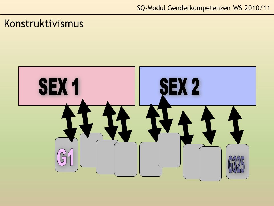 SEX 1 SEX 2 SEX 1 G1 G325 Konstruktivismus