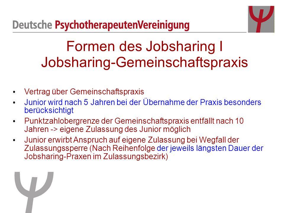 Formen des Jobsharing I Jobsharing-Gemeinschaftspraxis