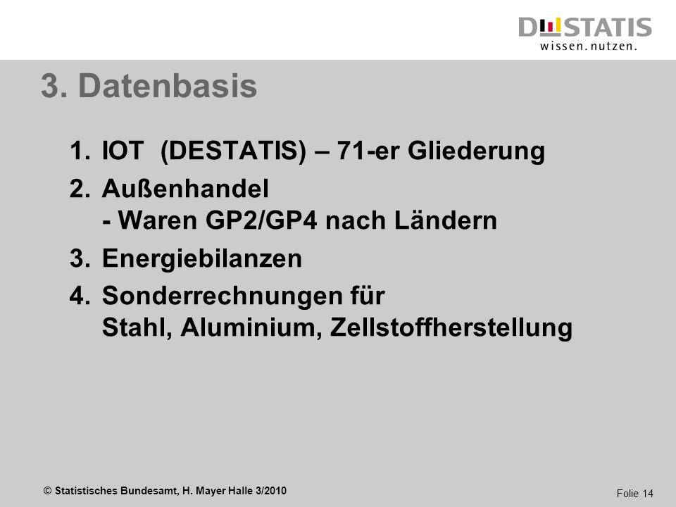 3. Datenbasis IOT (DESTATIS) – 71-er Gliederung