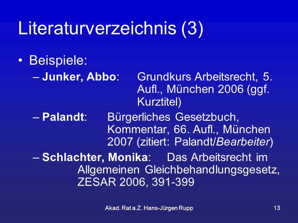 Literaturverzeichnis (3)