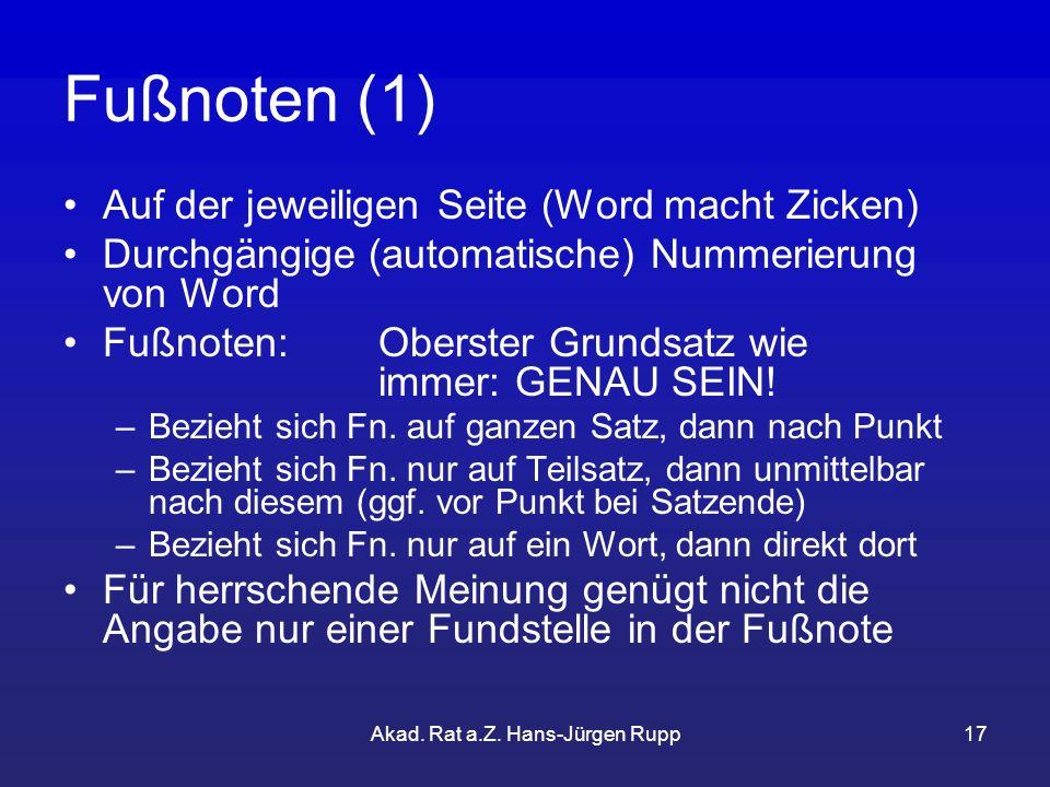 Akad. Rat a.Z. Hans-Jürgen Rupp