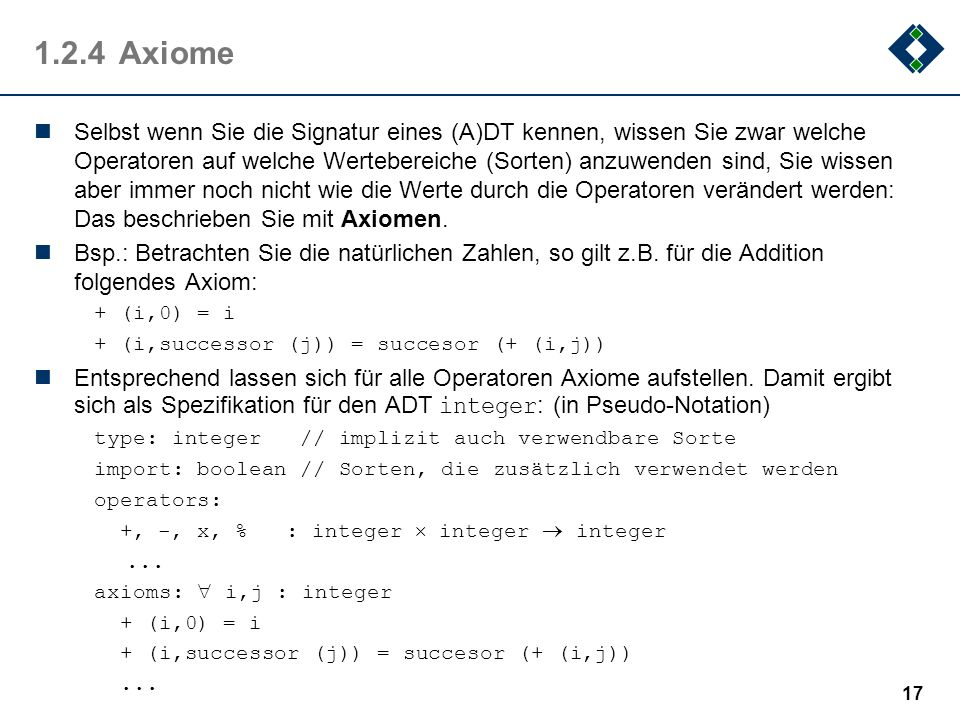 1.2.4 Axiome