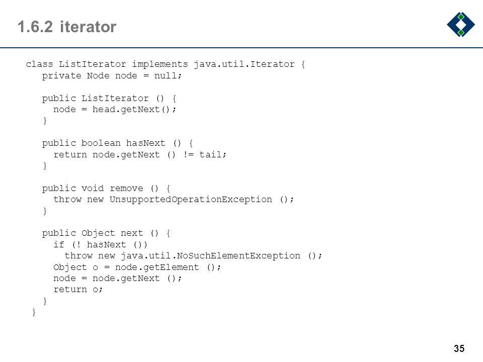 1.6.2 iterator