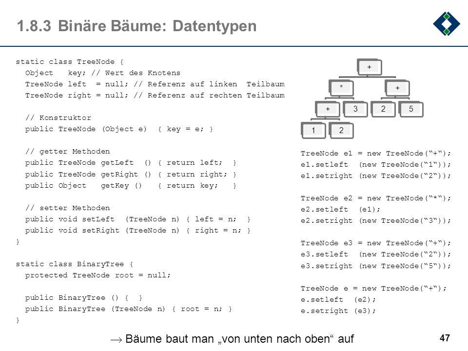 1.8.3 Binäre Bäume: Datentypen