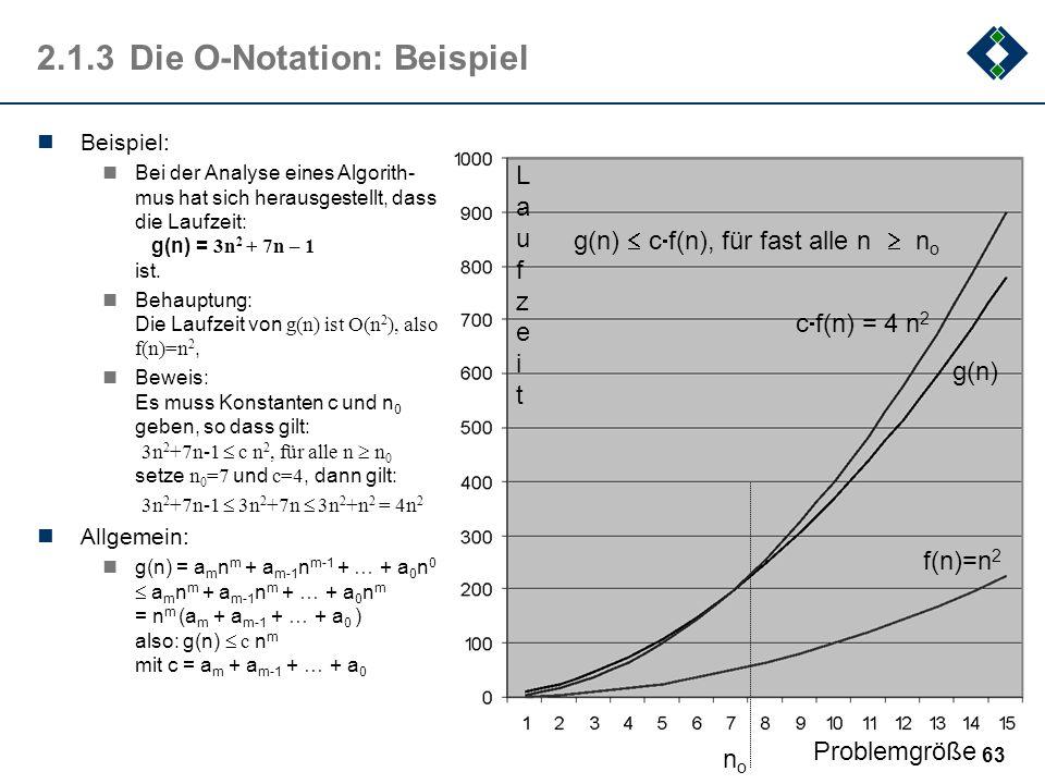 2.1.3 Die O-Notation: Beispiel