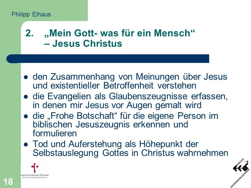 """""""Mein Gott- was für ein Mensch – Jesus Christus"""