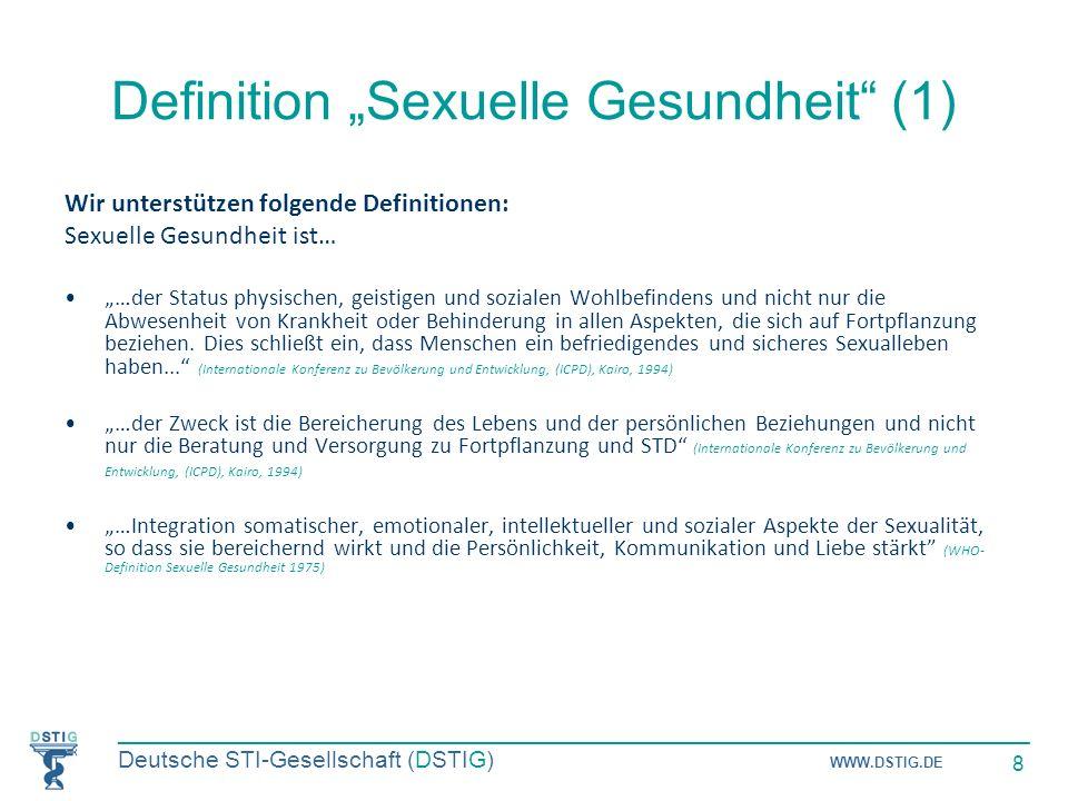 """Definition """"Sexuelle Gesundheit (1)"""