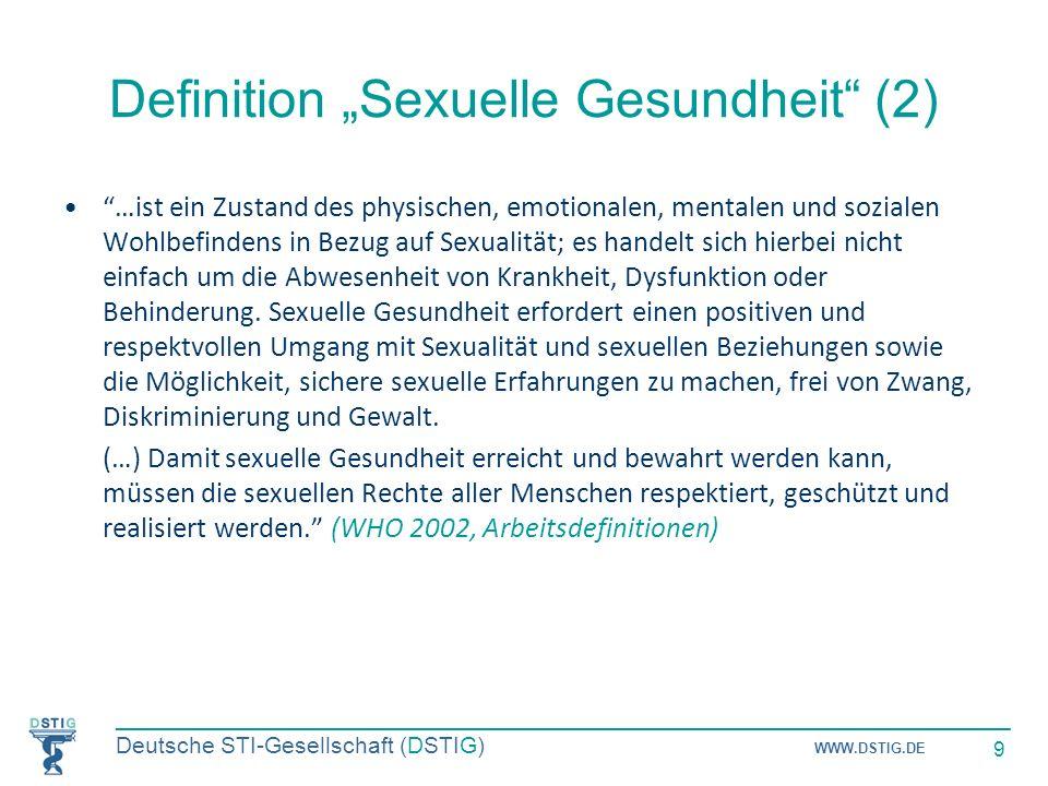 """Definition """"Sexuelle Gesundheit (2)"""