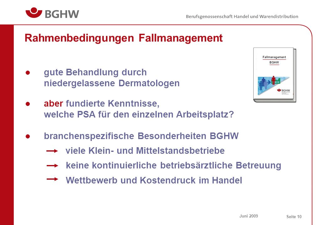 Rahmenbedingungen Fallmanagement