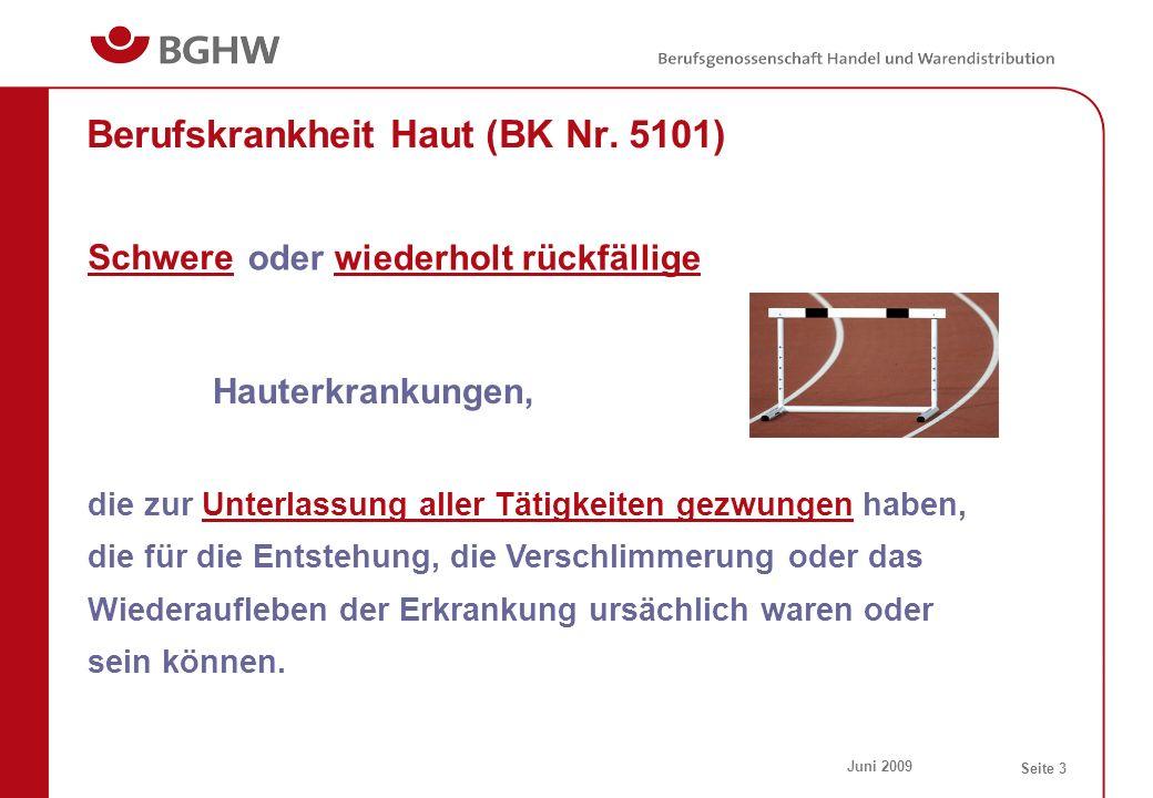 Berufskrankheit Haut (BK Nr. 5101)