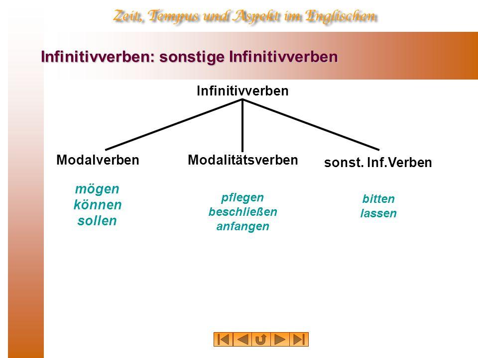 Infinitivverben: sonstige Infinitivverben