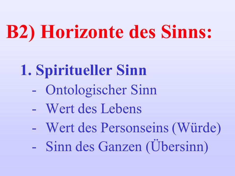B2) Horizonte des Sinns: