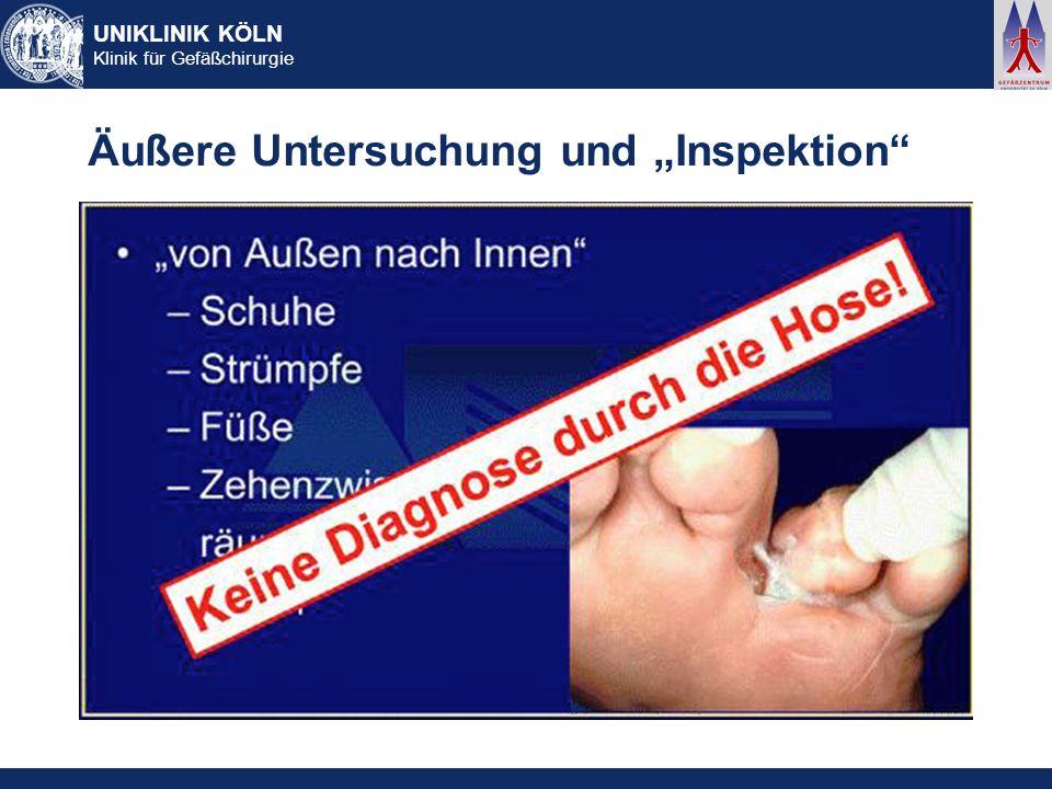 """Äußere Untersuchung und """"Inspektion"""