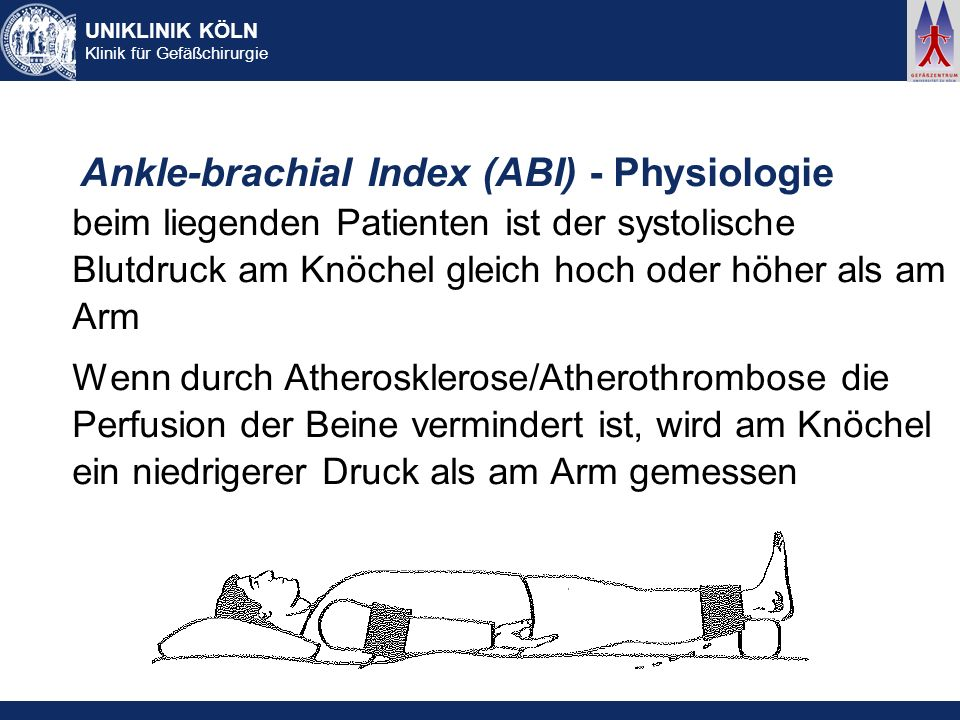 Ankle-brachial Index (ABI) - Physiologie