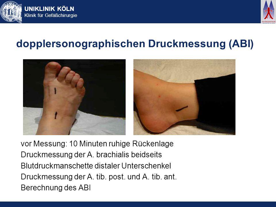 dopplersonographischen Druckmessung (ABI)