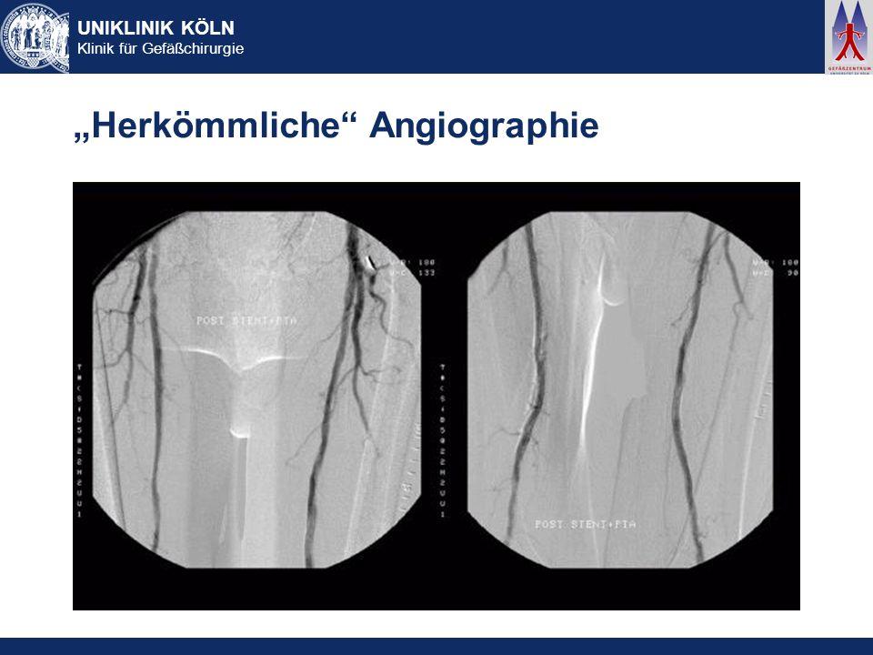 """""""Herkömmliche Angiographie"""