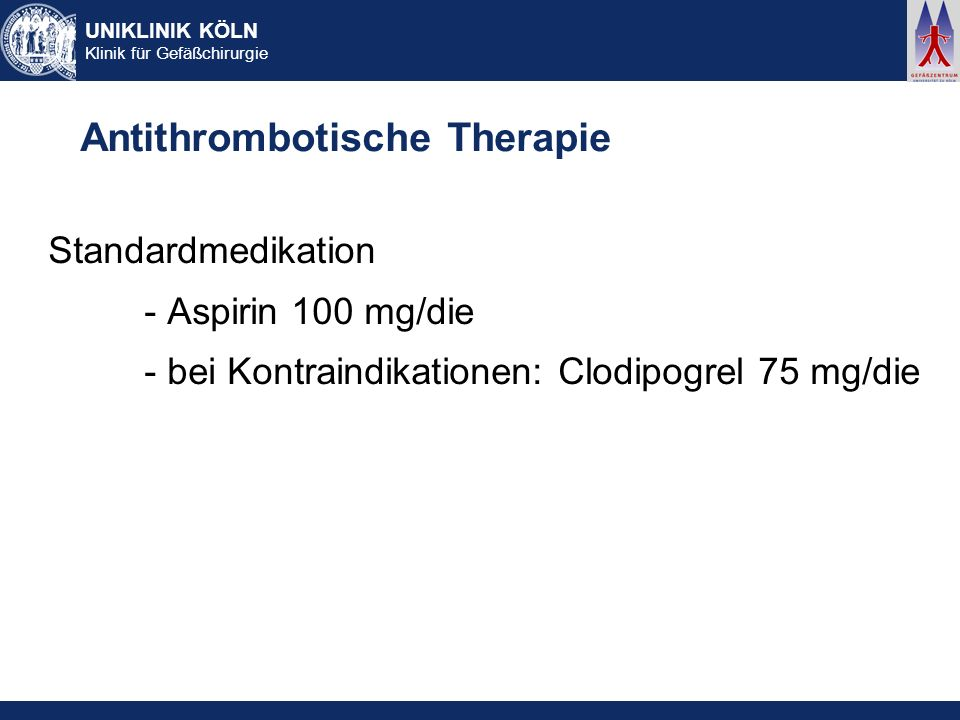 Antithrombotische Therapie